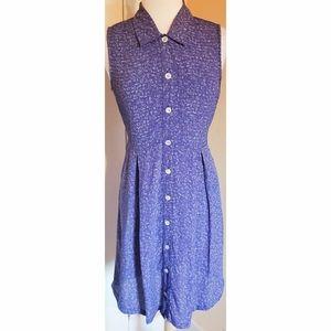 Vintage 90s April Cornell Floral Button Down Dress